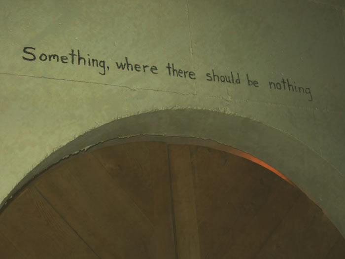 Something, where there should be nothing