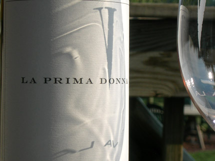 Bottle of La Prima Donna